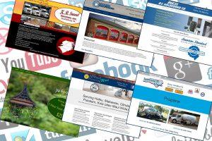 Websites displayed