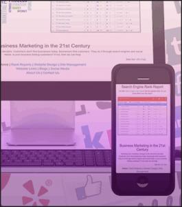 Mobile and desktop web management page